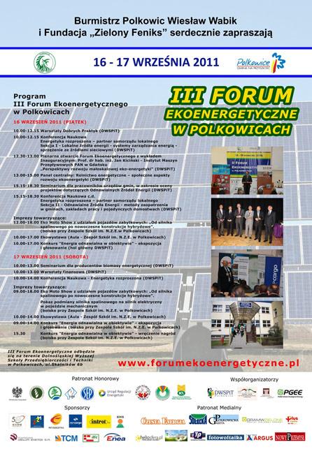 3 Forum Polkowice 2011 rok