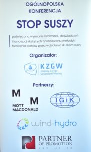 Plakat konferencja stop suszy, metodyka, 2017