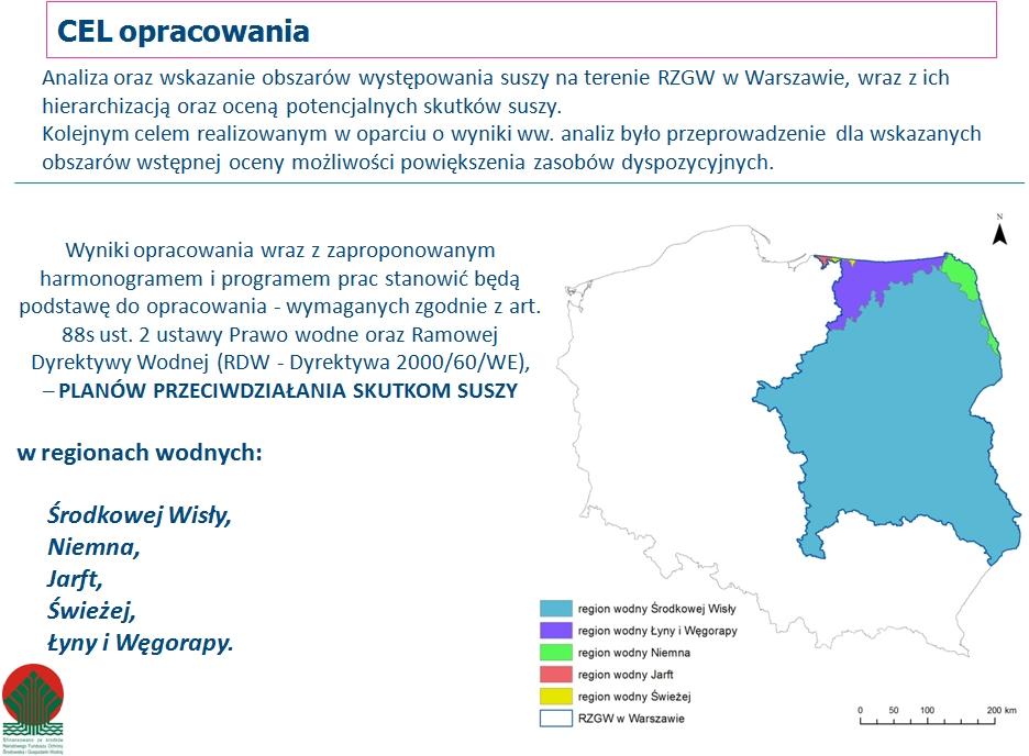 Obszary suszy RZGW w Warszawie