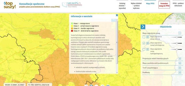Mapy zagrożenia suszą w Polsce