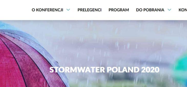Konferencja Stormwater Poland 2020 Deszcz Inspiracji