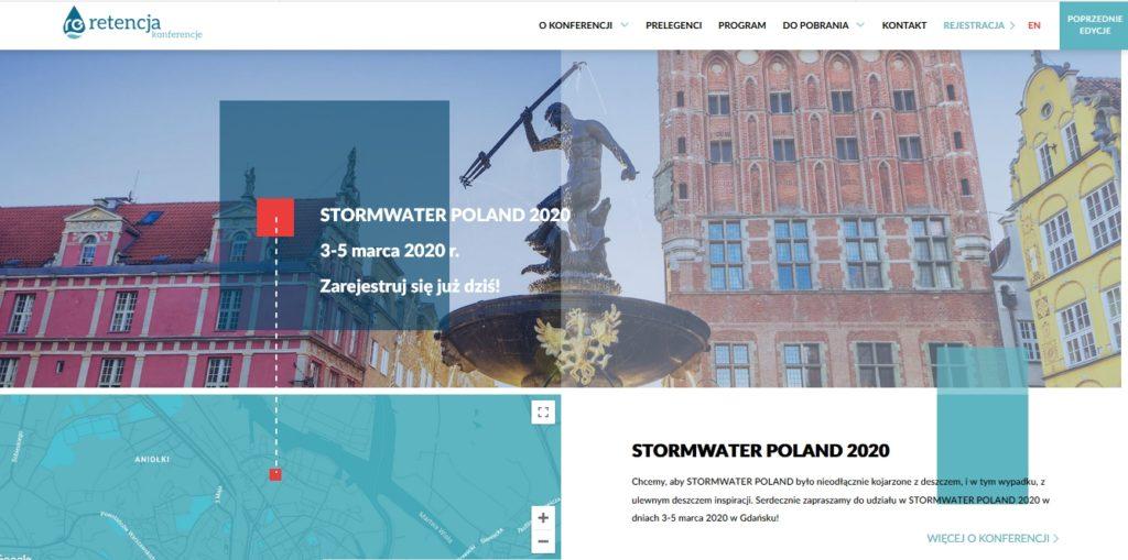 STORMWATER POLAND 2020, retencja.pl, konferencja 3-5 marca, Gdańsk  www.stormwater.retencja.pl