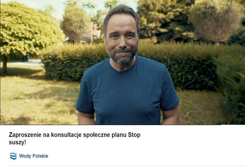 Zaproszenie na konsultacje społeczne, Łukasz Nowiki jako ambasador Stop suszy!,  PGW WP
