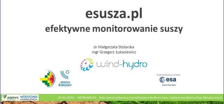 Webinarium samorząd a przeciwdziałanie suszy- eusza.pl