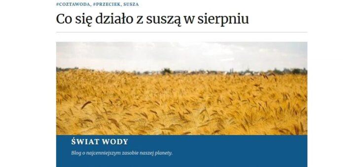 Raport o suszy w sierpniu. Źródło danych esusza.pl