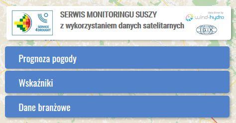 serwis monitoringu suszy moduły tematyczne portalu