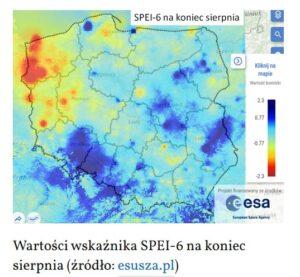 raport suszy SPEI-6 z esusza.pl
